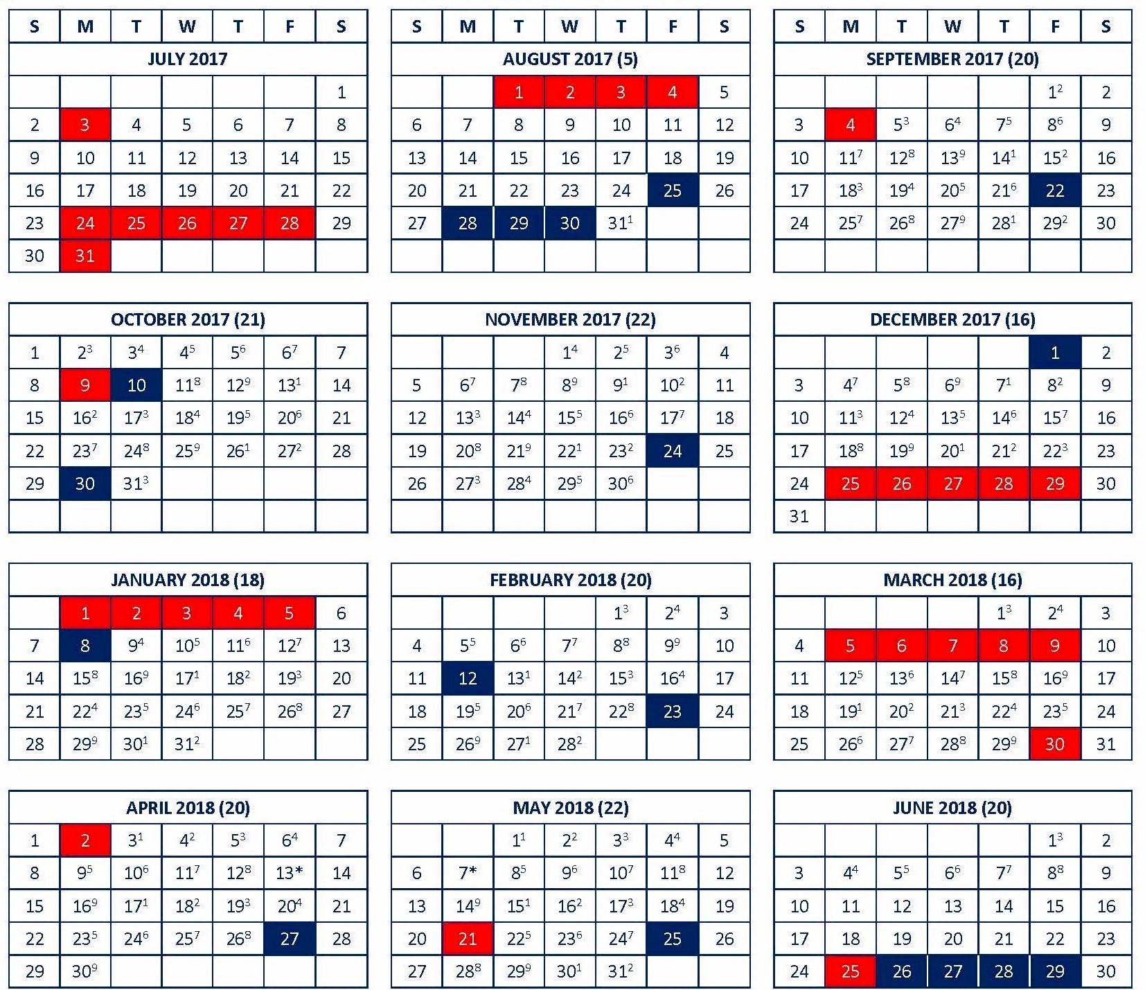 RHS School Calendar